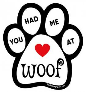 Dog Paw Magnet - You Had Me at Woof