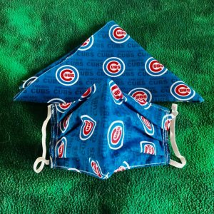Matching Chicago Cubs Mask and Bandada (version A)