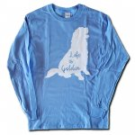 Life is Golden Long Sleeve T-Shirt - Sky Blue