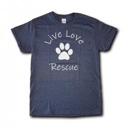 Live Love Rescue Short Sleeve T-Shirt - Heather