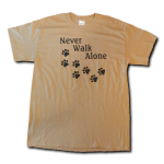 Never Walk Alone T-Shirt - Tan