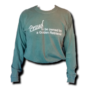 Proud Long Sleeve T-Shirt - Blue Spruce/White